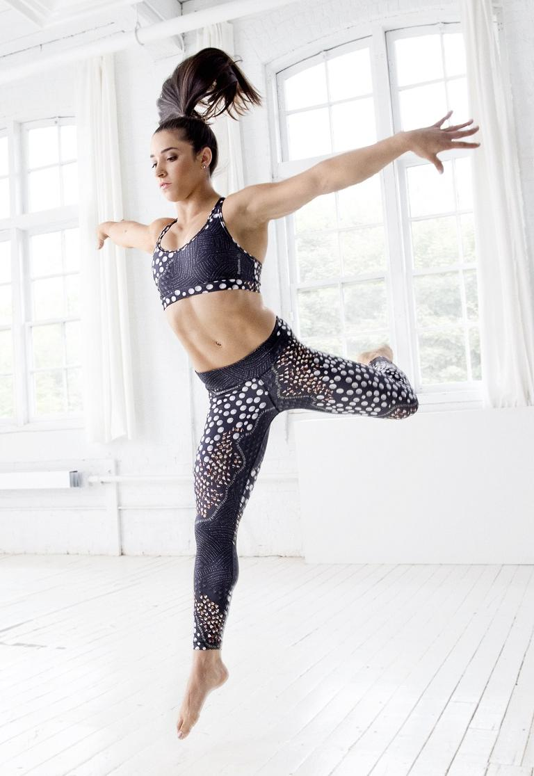 Pop Minute Aly Raisman Sports Bra Reebok 2k15 Photos