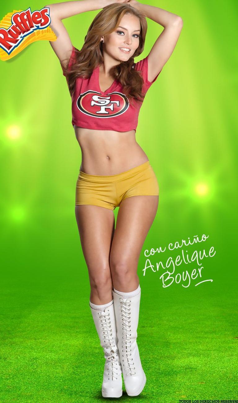 Angelique Boyer Ruffles Nfl