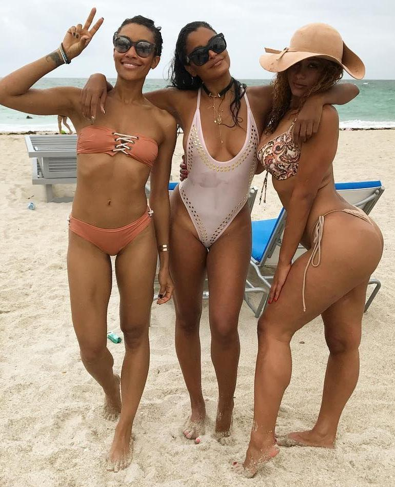 Claudia Jordan Bikini Miami South Beach Body