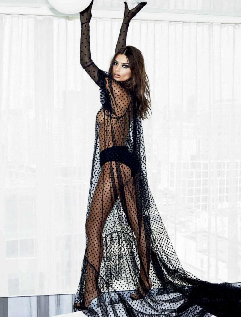 Emily Ratajkowski Sheer Vogue