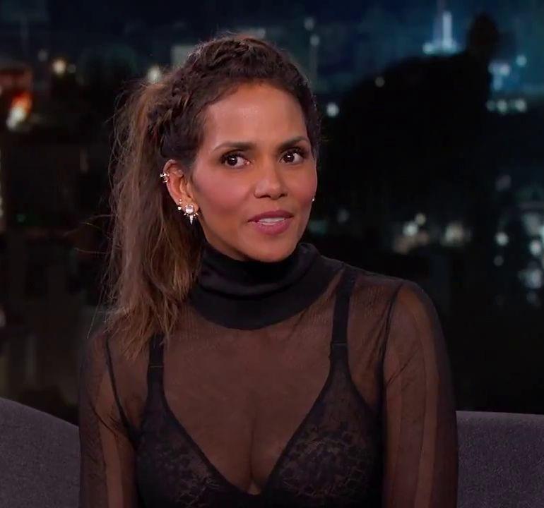 Halle Berry Bra Top Jimmy Kimmel Live