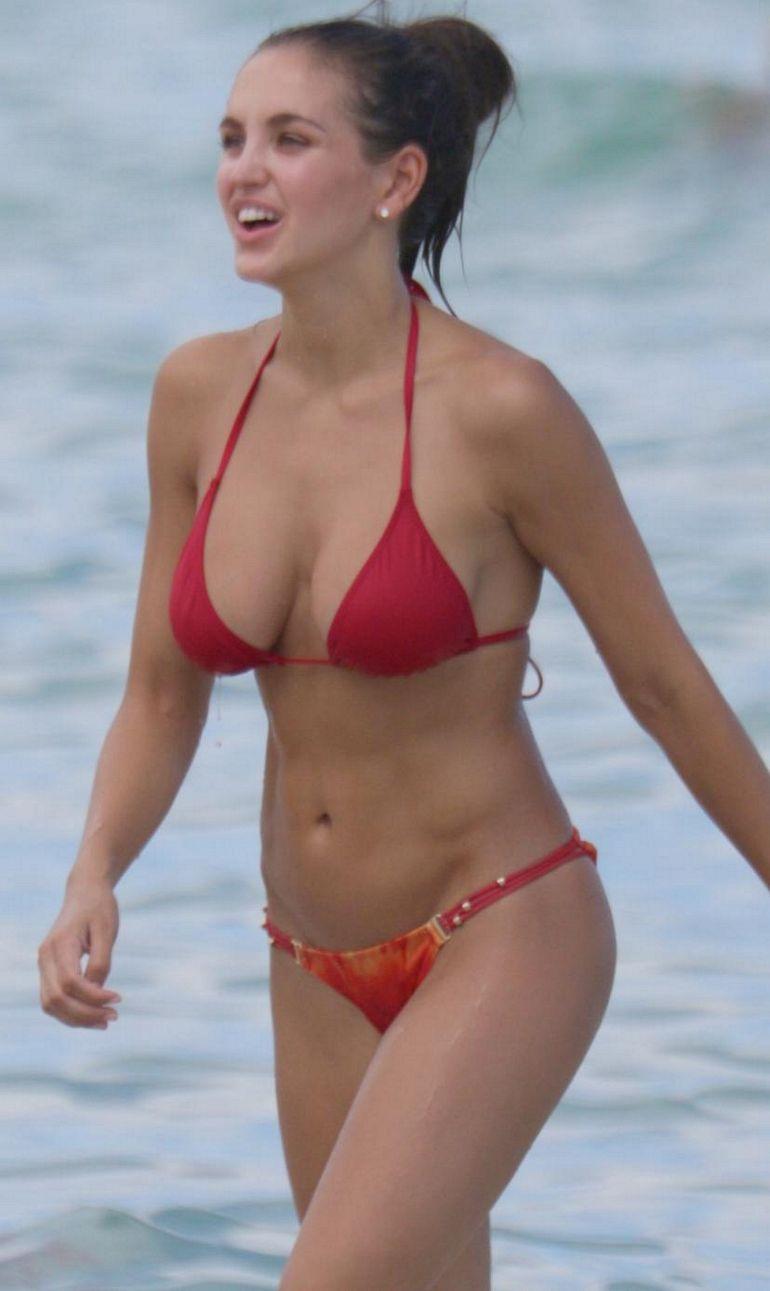Jaclyn Swedberg Bikini Red Demi Lovato Friend