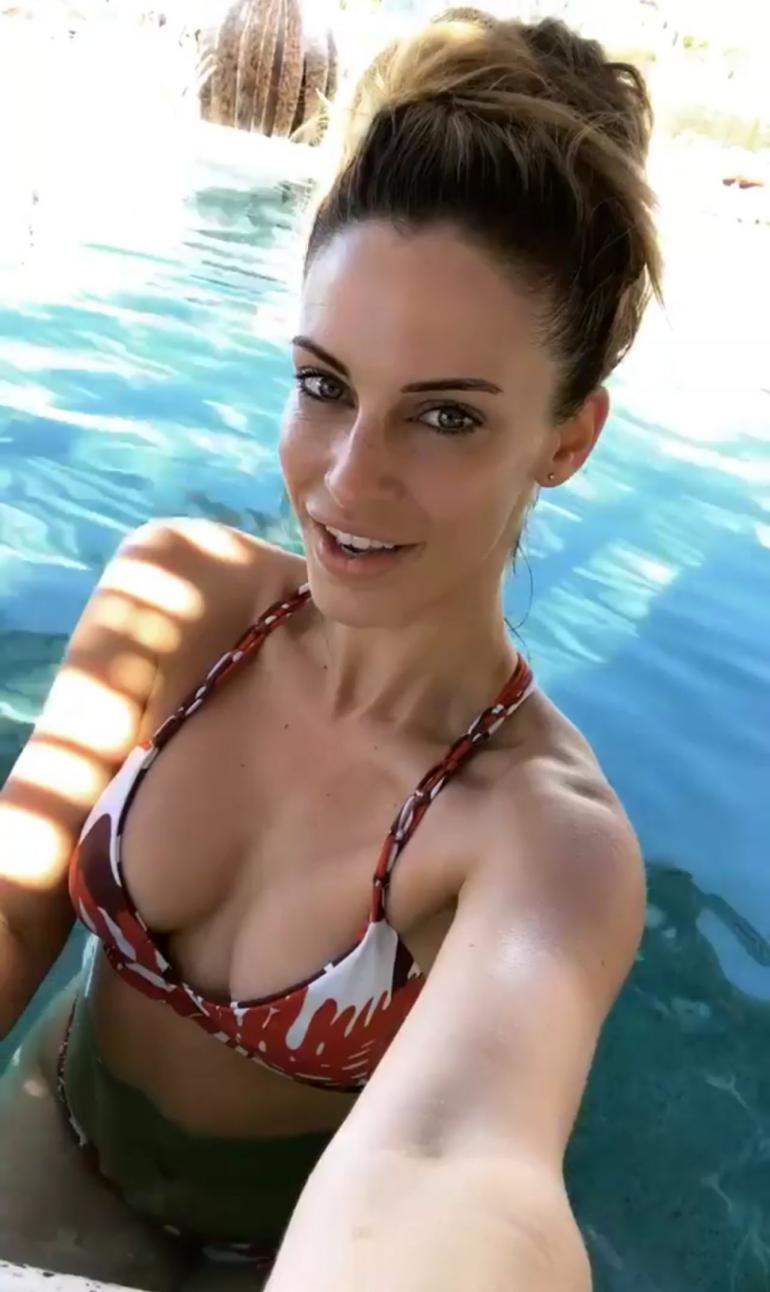 Jessica Lowndes Bikini Pool Tube Body