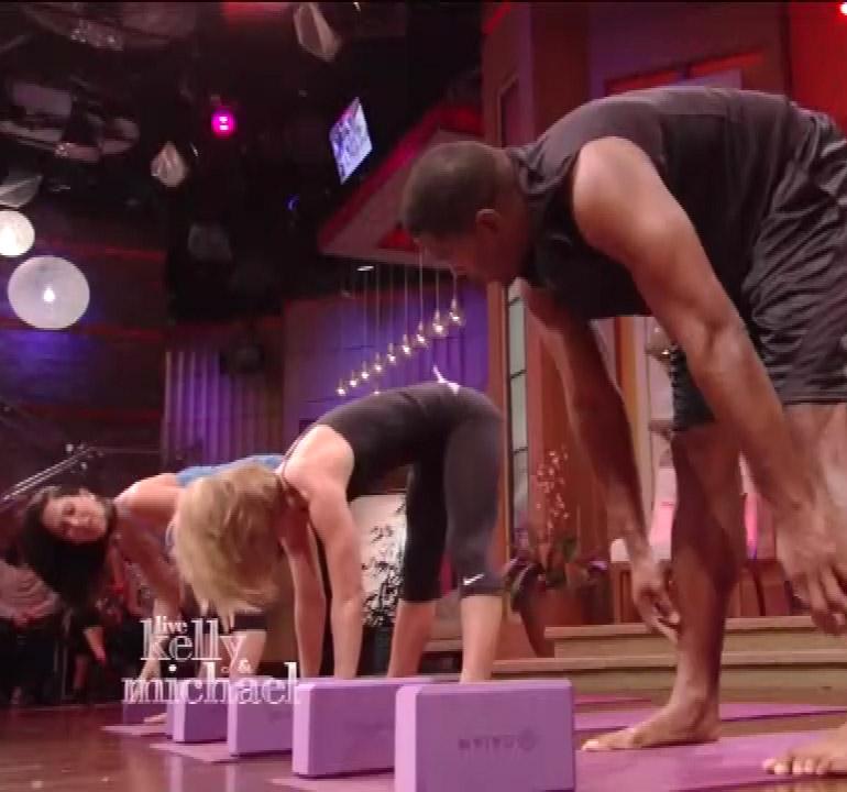 Kelly Ripa Yoga Live