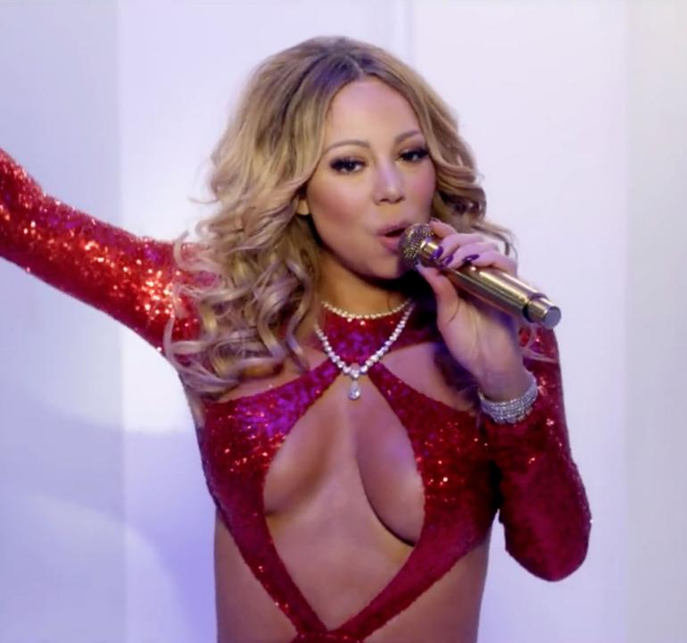 Pop Minute - Mariah Carey Cleavage Christmas Special ...