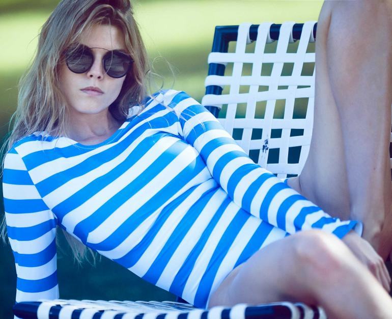 Maryna Linchuk Bikini Solid Stripes Cleavage, Body