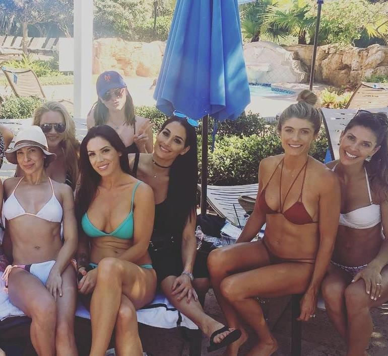 Nikki Bella Bikini Toe Pool Body