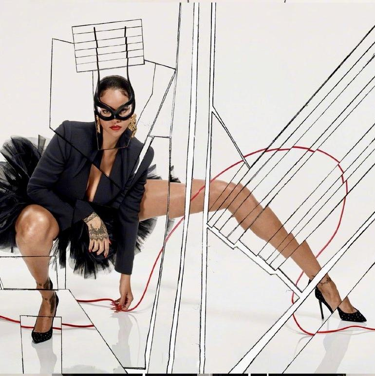 Rihanna Legs Paris Vogue