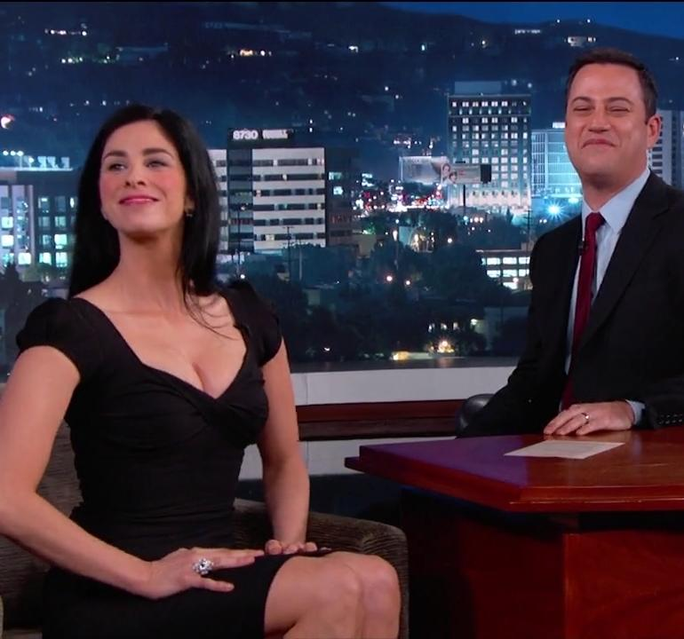 Pop Minute - Sarah Silverman Jimmy Kimmel Black Photos ...