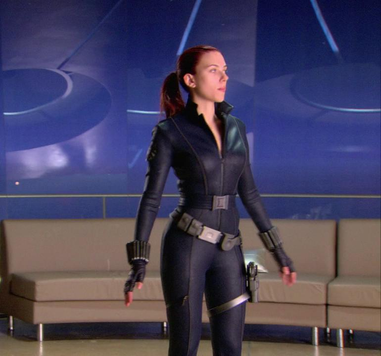 Pop Minute - Scarlett Johansson Black Widow Outfit Photos ... скарлетт йоханссон черная вдова