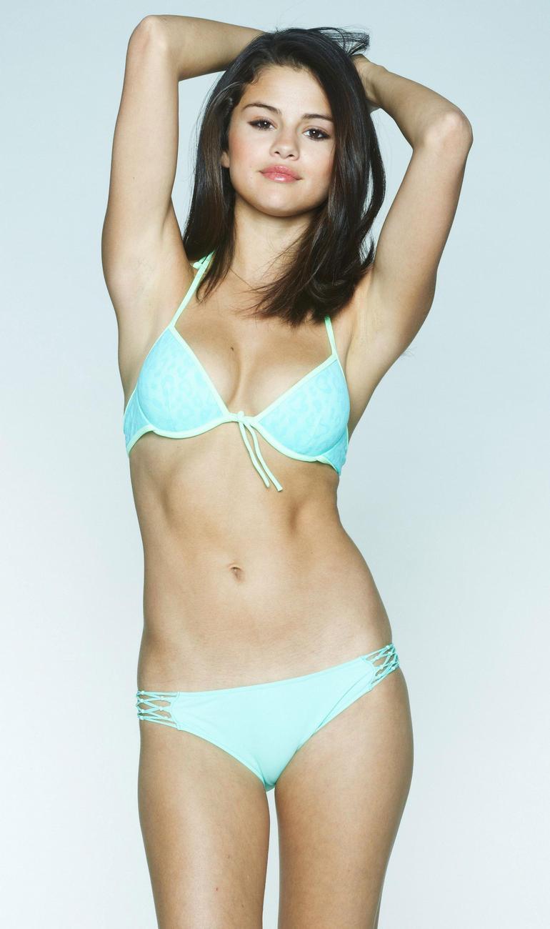 Slena gomez blue bikini