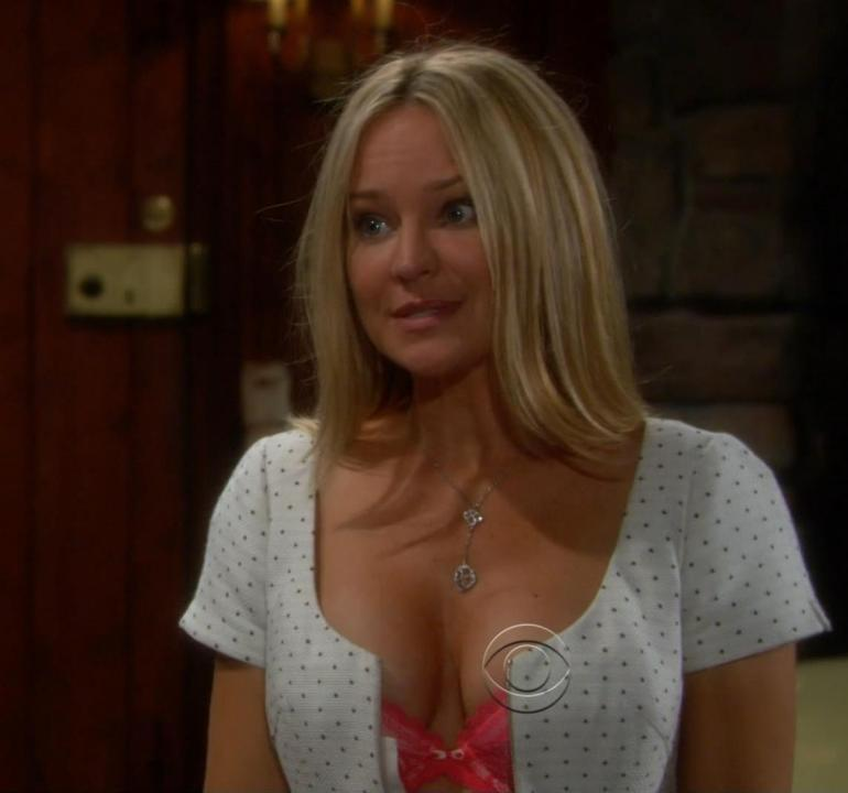pop minute   sharon case young and restless lingerie
