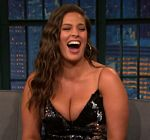Ashley Graham Cleavage Late Night