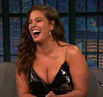 Ashley Graham Cleavage Late Night 6