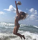 Bar Refaeli Bikini Jump Workout