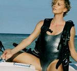 Charlize Theron Bikini Boat Vogue