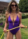 Elizabeth Hurley Swimsuit Herefordshire 1