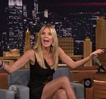 Heidi Klum Black Dress Tonight Show