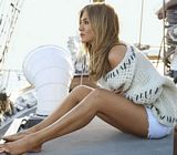 Jennifer Aniston Legs Boat Claire