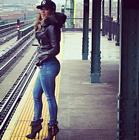 Jennifer Lopez Jeans Train Ny