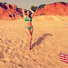 Kelly Brook Bikini Green Malibu
