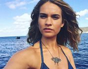 Lily James Bikini Sea Mamma Mia 1