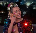 Miley Cyrus Pasties Hearts Kimmel