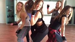 Minka Kelly Spandex Dance Friends