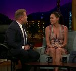 Minnie Driver Cleavage James Corden