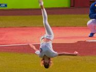 Nastia Liukin First Pitch Chicago Cubs