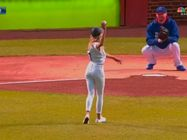 Nastia Liukin First Pitch Chicago Cubs 8