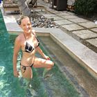 Sharon Stone Bikini Zebra Pool
