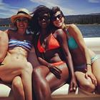 Sophia Bush Bikini Boat Friends