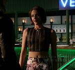 Willa Holland Arrow Crop Top