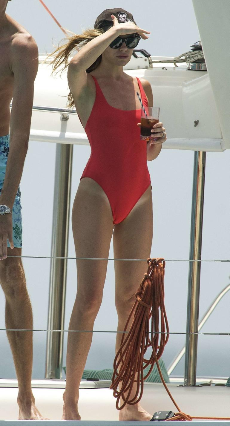 Abbey Clancy Boat Red