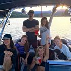 Nina Dobrev Julianne Hough Boat Lake 8