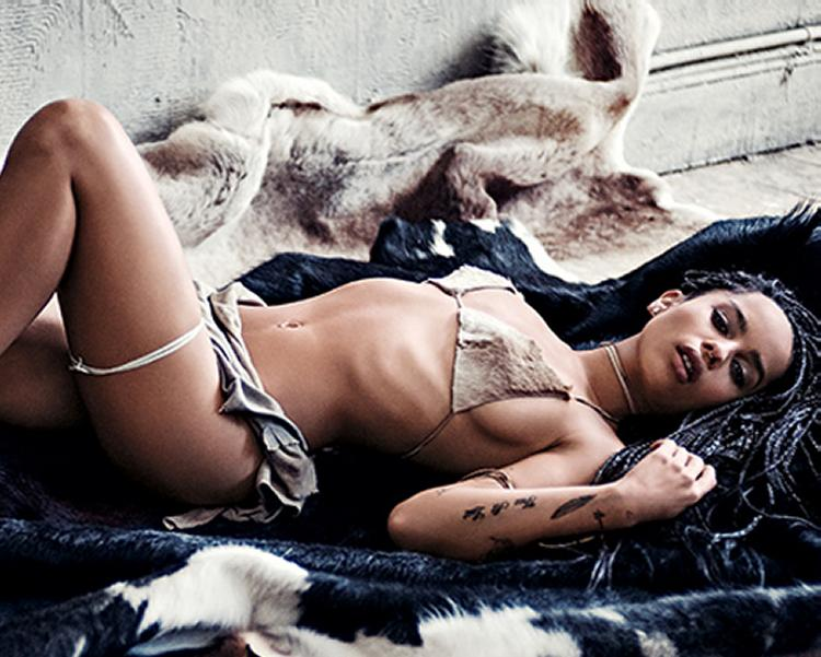 Pop Minute - Zoe Kravitz Bikini Animal GQ Photos - Photo 9