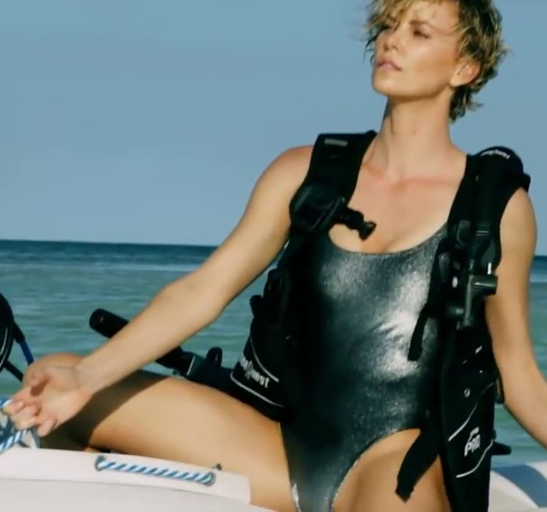 Pop Minute - Charlize Theron Bikini Boat Vogue Photos ... James Franco Accusations