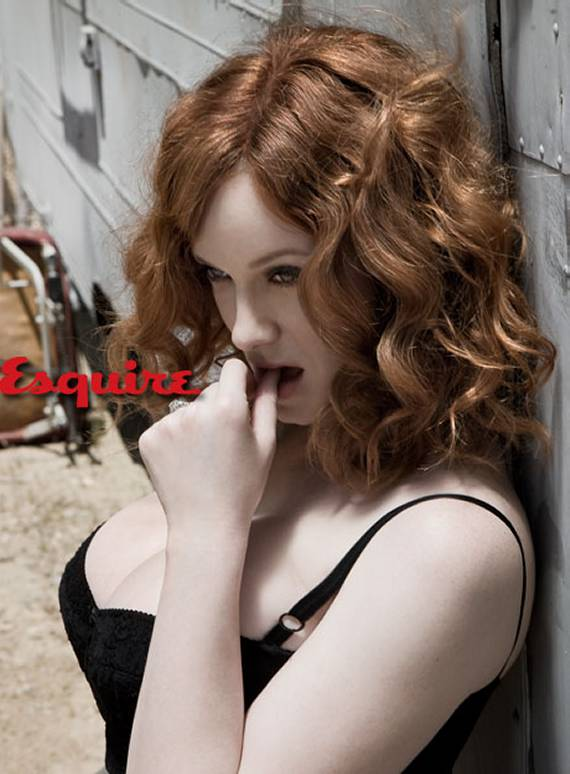 Christina Hendricks Cleavage Esquire Boobs