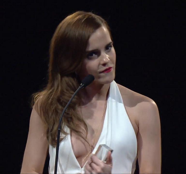 Braless emma watson Emma Watson