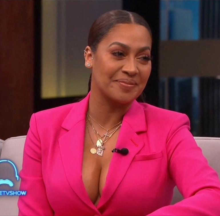 LaLa Anthony Steve Harvey Show Cleavage