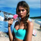 Behati Prinsloo Bikini Shoot Icecream Bts