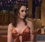 Lily Collins Fallon Tonight Show