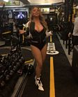 Mariah Carey Gym Fishnet Stilettos 2